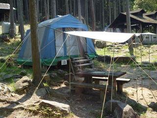[手ぶらでキャンプ♪IN近江八幡(カレー)] デラックステント
