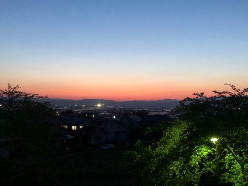 マジックアワー!綺麗な夕焼け