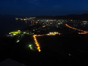 魚見岳から見る夜景ツアー