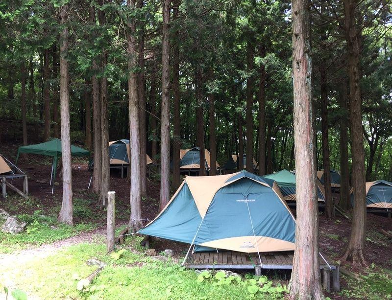 今年のキャンプ場営業の終了のお知らせ