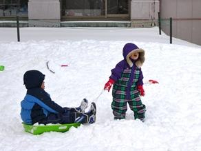 【雪あそび広場】で冬を楽しもう♪