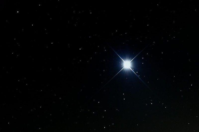 冬の星座さがし。