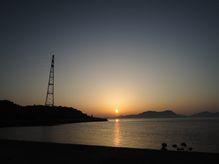 大久野島の朝日と夕日