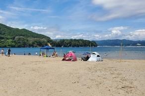 山田町浦の浜海水浴場に行ってきました!