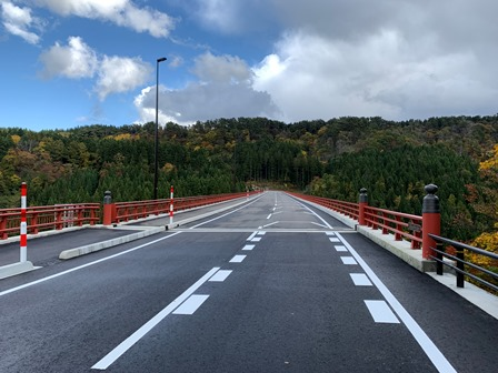 いよいよ開通 羽黒山神路大橋