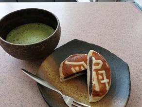 体温まるお饅頭と抹茶をどうぞ【392Cafe】