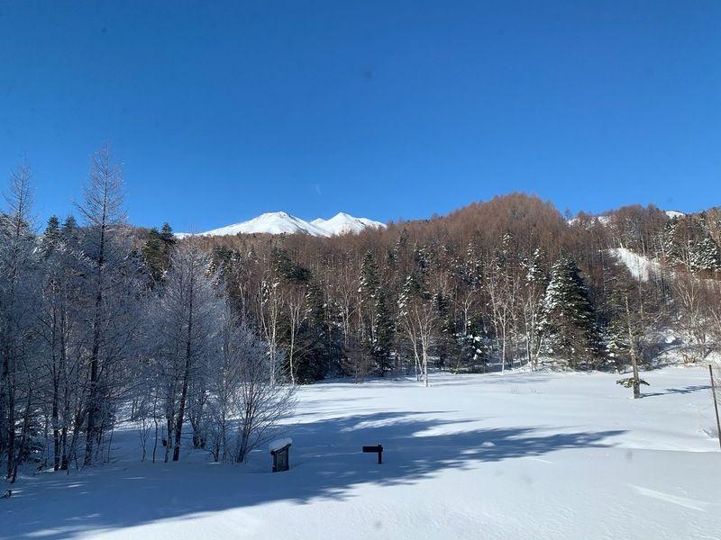 本日のスキー場情報と朝の乗鞍岳のお話