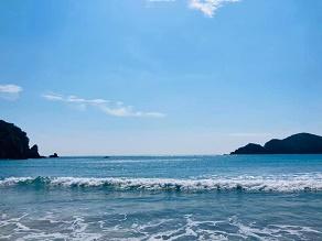 のんびりと弓ヶ浜 そして青空