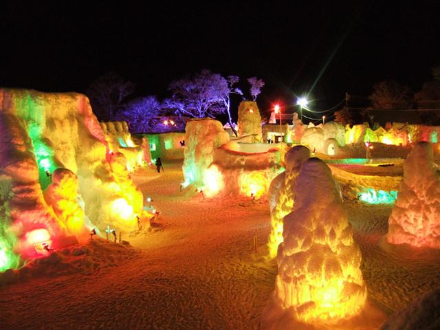 [冬の祭典♪氷濤祭りチケット付プラン~北海三昧会席~] 千歳・支笏湖氷濤祭り