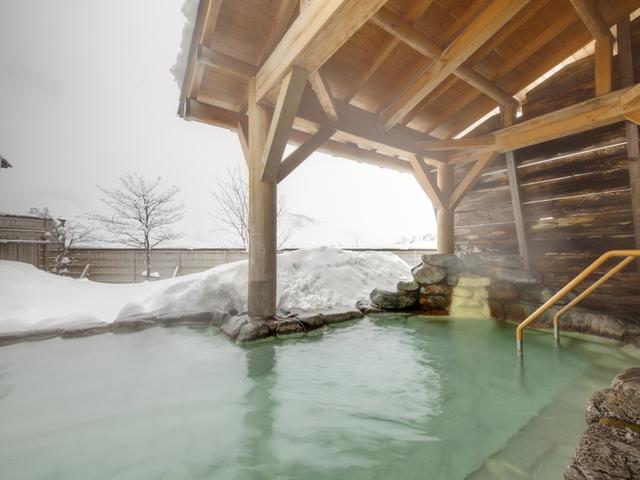 [【5連泊】冬の網張温泉ロングステイプラン連泊すればするほどお得です♪] 冬の醍醐味はやっぱり雪見風呂♪【大釈の湯・露天】