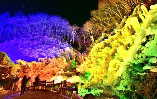 [【2泊3日+バスツアー付き】ライトアップの幻想的な「あしがくぼの氷柱」見学と三峯神社参拝] あしがくぼの氷柱