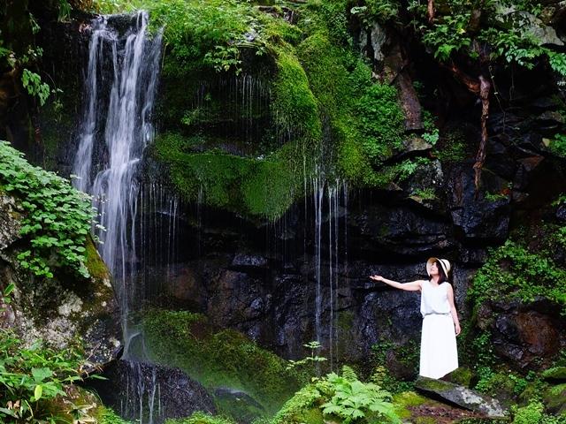 [【Q会員様限定】温泉&バイキング満喫プランスタンダードバイキング~4月より上州・信州・越後フェア8月まで~] たまだれの滝 車で5分 小さい滝ですが風情があります。