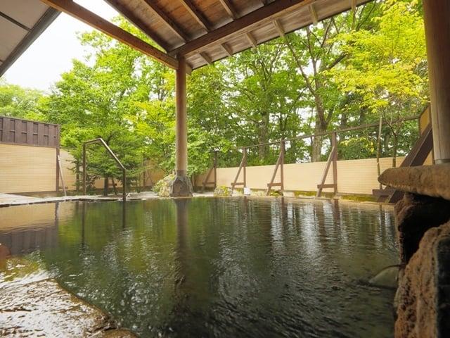 [素泊まりプラン(夕食・朝食なし)【全室wi-fi接続可/標高1400mの温泉リゾートでゆったり過ごす】] 【露天風呂】四季折々の景色に囲まれた露天風呂