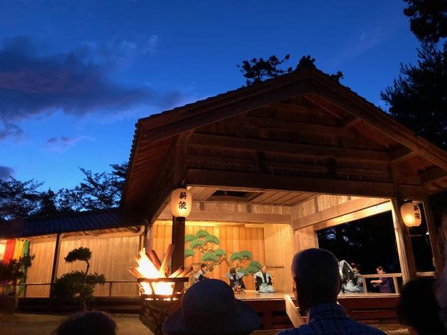 [【旅Q】今年の見納め!!【さど旅】薪能(たきぎのう)<特別公演>] 薪能 椎崎諏訪神社