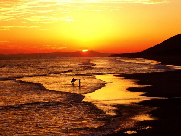 [【3泊6食滞在プラン】連泊するほどお得伊良湖でゆったり滞在プラン] 多くのサーファーで賑わう太平洋ロングビーチ