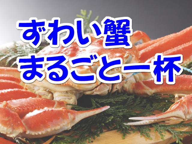 [平日限定【ずわい蟹を食べよう♪】ずわい蟹まるごと一杯付きなぎさコース] ずわい蟹まるごと一杯付~なぎさ~