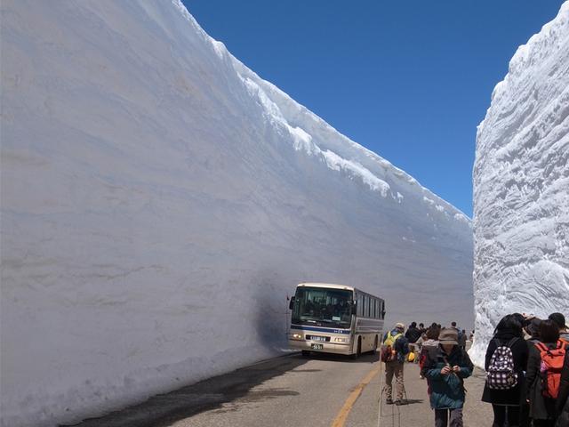 [【5月~2泊5食付バスツアー】落差350mで日本一!アルペンルート称名滝と雪の大谷ウォーク] 一度は行ってみたい!雪の大谷ウォーク