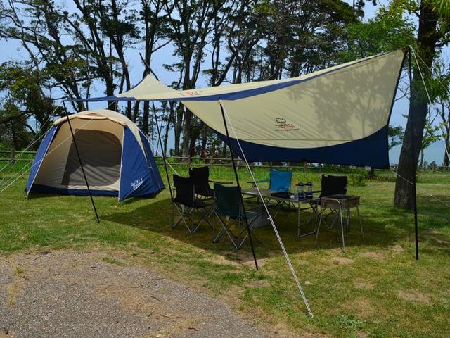 [何も持たずに手ぶらでキャンプ(テント・タープ設営済の撤収要らず)] 手ぶらでキャンプ設営