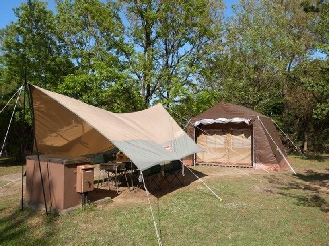 [【キャンプ場】 1日限定5組!手ぶらでキャンプ(休暇村オリジナルロッジ型テント)] 手ぶらでキャンプ(休暇村オリジナルロッジ型テント)