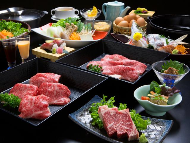 [【日帰り】 贅の極み  牛ぎゅう懐石 温泉入浴付き!] 肉の質・部位にこだわり、贅を尽くした『淡路ビーフ』と兵庫県産黒毛和牛の饗宴