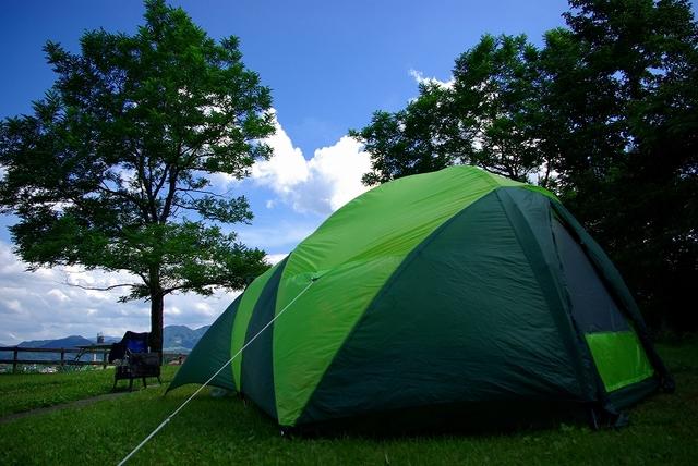 [今年新登場!オートサイトで手ぶらでキャンプ(スタンダード)inひるぜん2018] イメージ オートテント設営