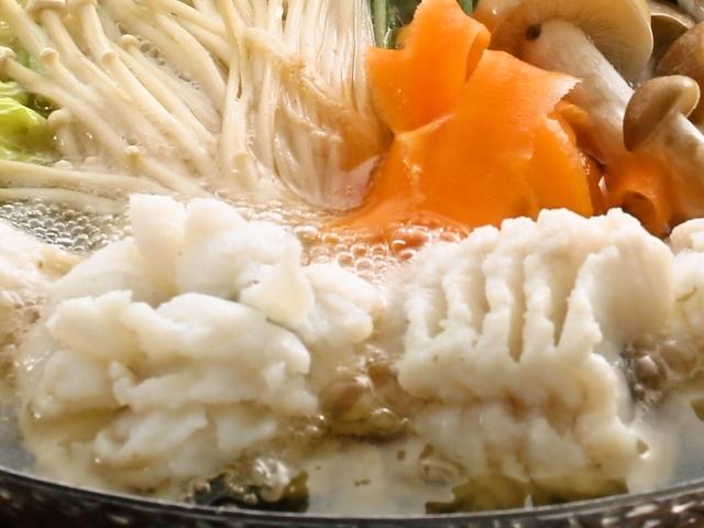 [秋鱧(アキハモ)付きKunoshima-ビュッフェ] 旨味たっぷりの秋鱧鍋