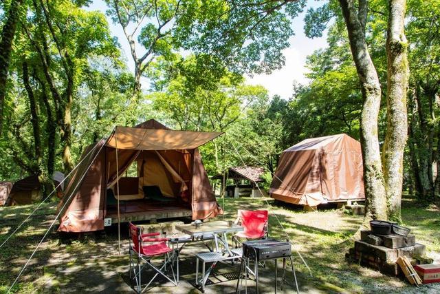 [【休暇村オリジナルロッジ型テント付き 手ぶらでキャンププラン】(食材なし)] キャンプに必要な道具が一通り揃っているので安心♪食材はお客様でお好きなものを(道具はイメージです。)